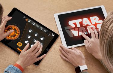 Star Wars-workshops in Apple Store.