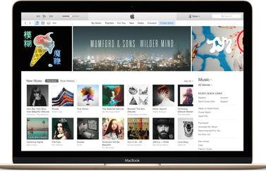 iTunes op MacBook