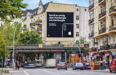 iPhone privacy banner Hamburg