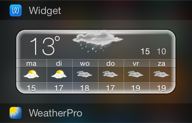 Beste weer widget iOS 8 iPhone