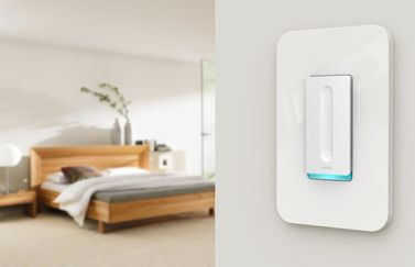 Belkin Wemo Dimmer Switch in de kamer.
