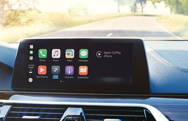 CarPlay in BMW met abonnement.