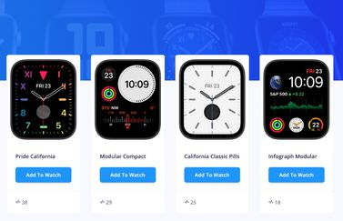 Website AppleWatchFaces.io: verzameling wijzerplaten.