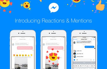 Facebook Messenger reacties en vermeldingen.