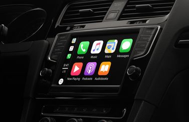 CarPlay startscherm in de auto.