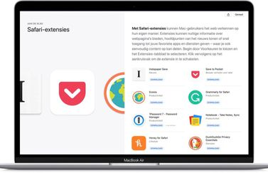 Safari-extensies in de Mac App Store
