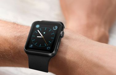 Apple Watch-wijzerplaat met Apple-logo.